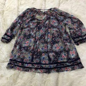 Jessica Simpson floral maternity blouse